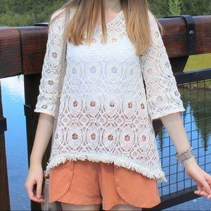 Crochet low back top